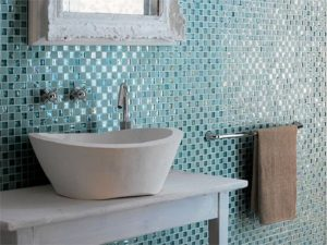 Glass Tile Bathroom Designs Glass Tile Bathrooms Home Design Model