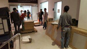 Gạch ốp lát Bạch Mã công trình Lotte